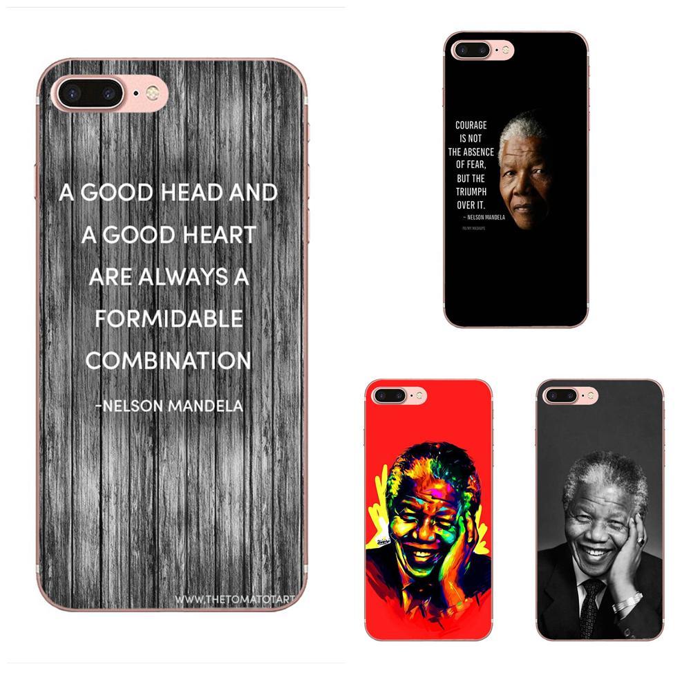 Nelson Mandela TPU mejor de los casos para Huawei Nova 2 V20 Y3II Y5 Y5II Y6 Y6II Y7 Y9 G8 G9 GR3 GR5 GX8 primer 2018 de 2019