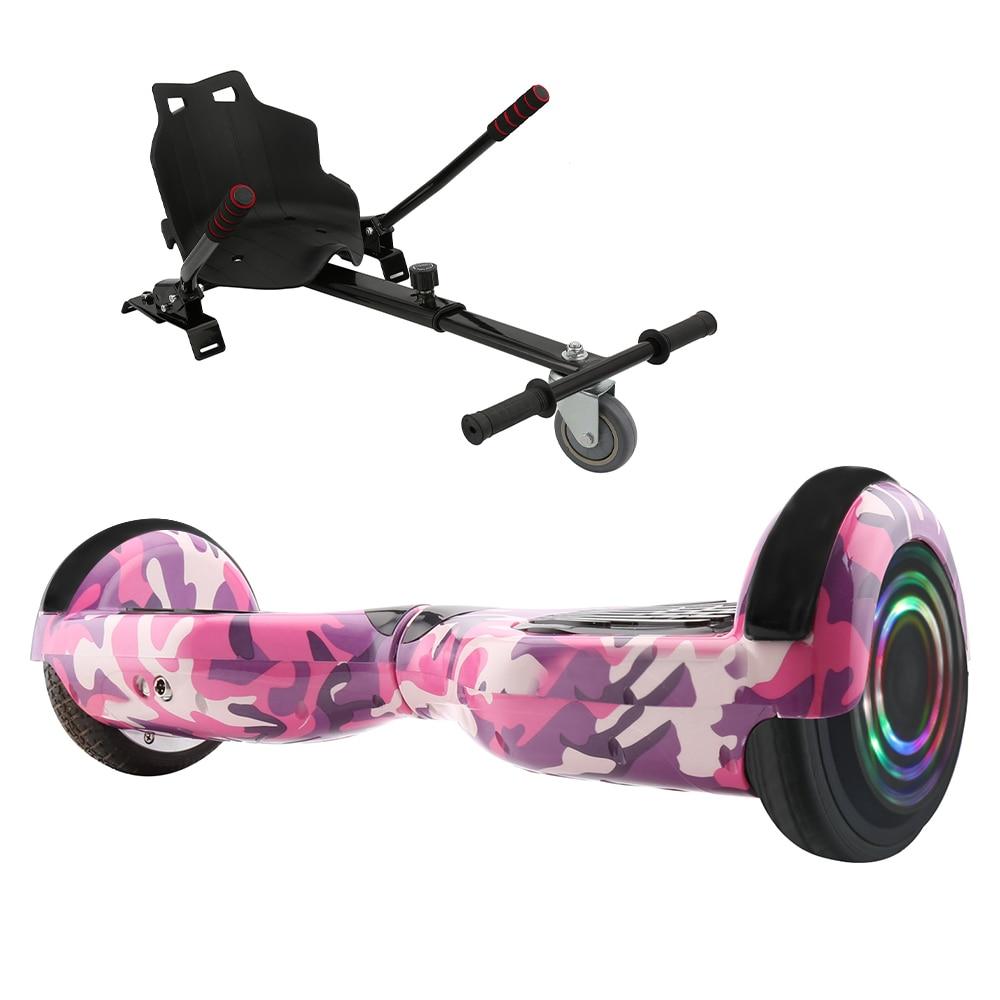 6,5 Дюймов Электрический скутер умный Ховерборд Bluetooth Электрический скейтборд с светодиодный смарт Ховерборд + ховеркарта