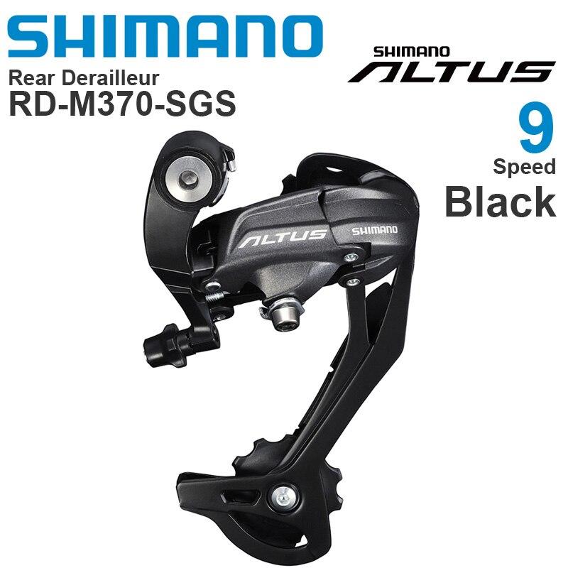 SHIMANO-desviador trasero ALTUS M370, 9v, 9 velocidades, capacidad Total 45T, Piñón bajo...