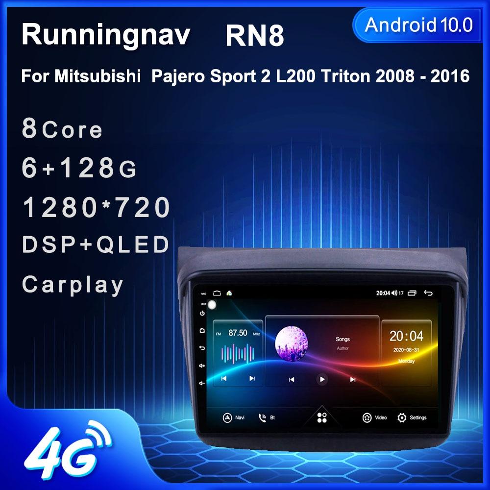 4G أندرويد 10.1 لميتسوبيشي باجيرو سبورت/L200/2006 + تريتون/2008 + باجيرو 2010 الوسائط المتعددة ستيريو سيارة لاعب الملاحة راديو GPS