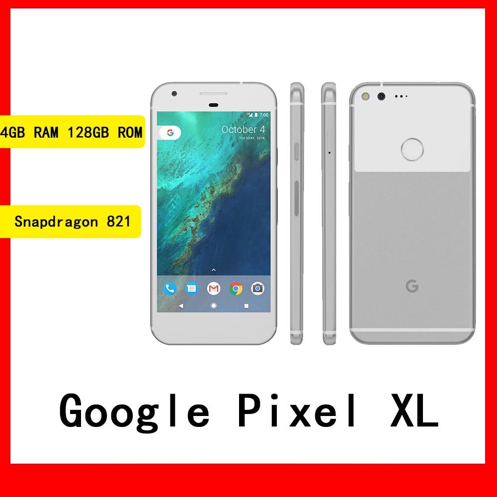 جوجل بيكسل XL الهاتف الذكي 5.5 بوصة 1440x2560 بكسل شاشة 4GB RAM 128GB ROM الهاتف المحمول الأصلي مقفلة