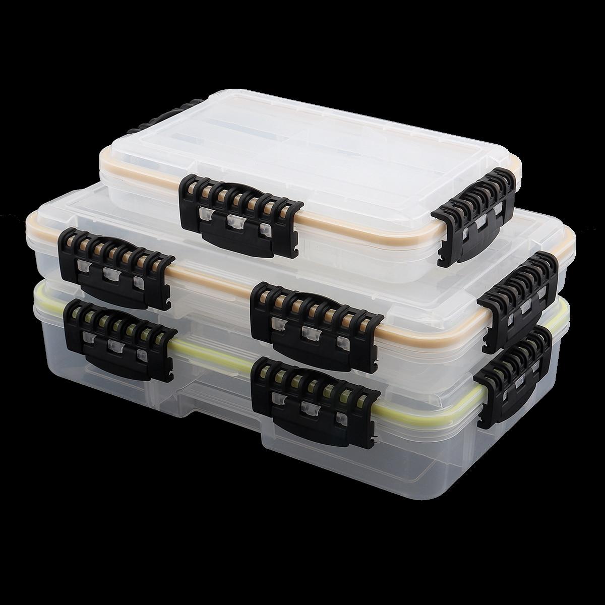 ABS سعة كبيرة مقاوم للماء صندوق معالجة الصيد خطاف الصيد إغراء وهمية الطعم اكسسوارات صندوق تخزين S متر L 3 حجم اختياري