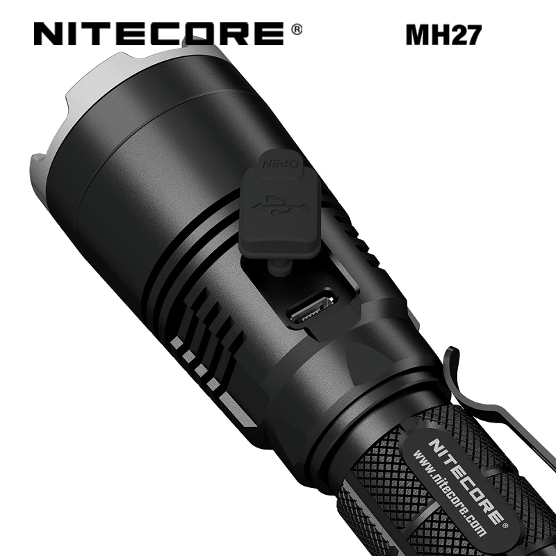 NITECORE MH27 1000 Lumens HIGH-Performance Cree XP-L V3 LED Intelligent Micro-USB Charging RGB Auxiliary LED Flashlight enlarge