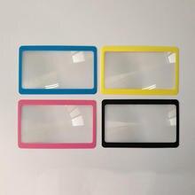 1 stücke 3X Lupe Vergrößerung Fresnel Lesen Aid Objektiv Geldbörse Tasche Kreditkarte Größe Transparent Lupe 8.5*5,5 cm
