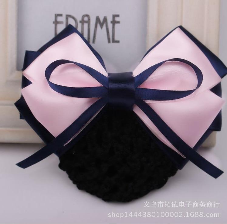 Women's professional head flower bank nurse bow net head flower hair accessories girls hair tie wholesale handmade ribbon gift