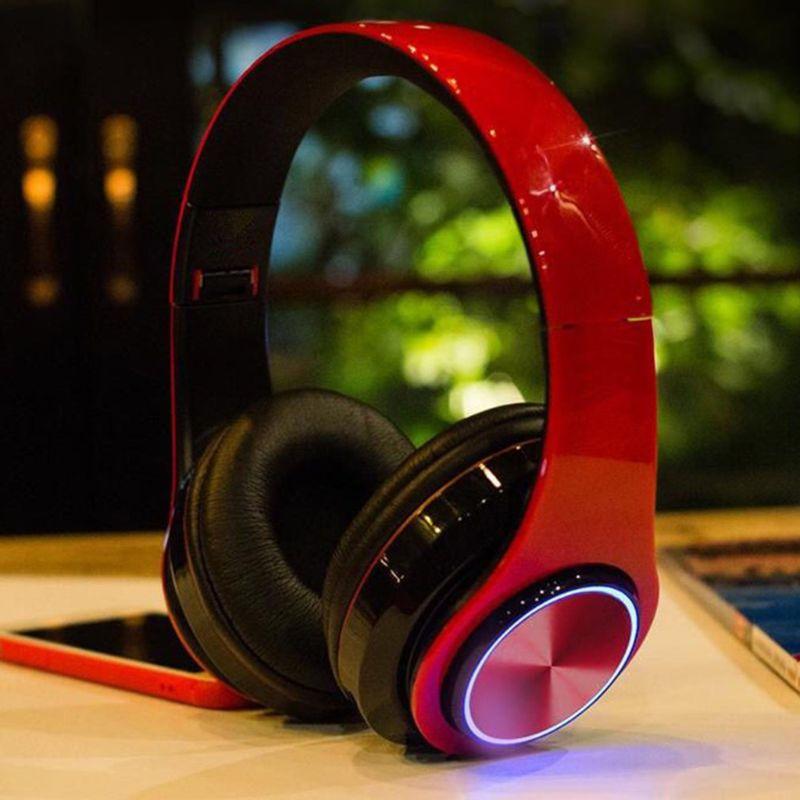 B39 auriculares inalámbricos Bluetooth luces LED con micrófono reproductor Mp3 D08A