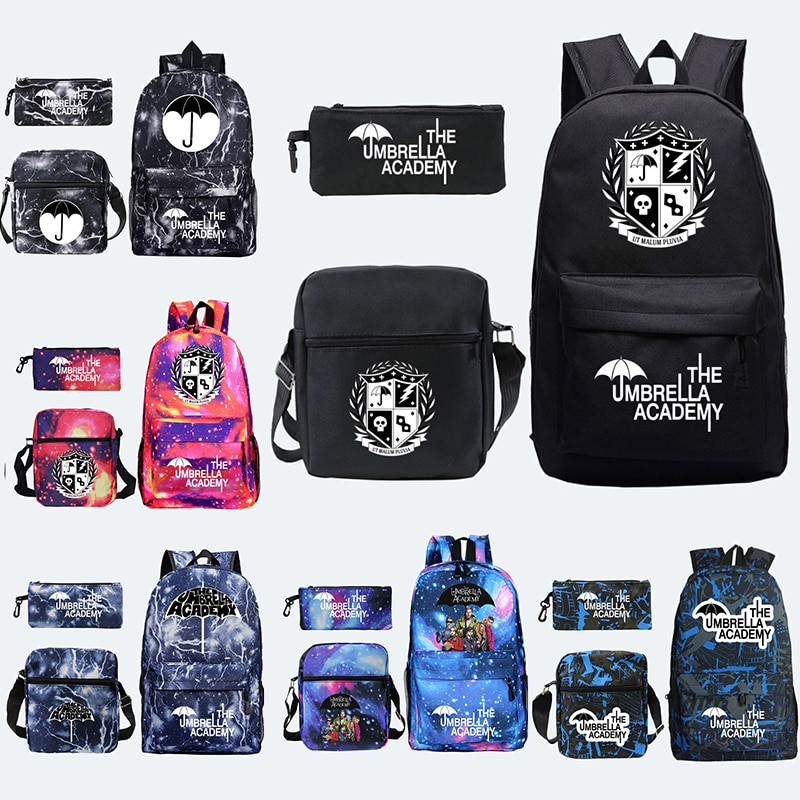 The Umbrella academy USB Backpack Women Men Teenager School Bag Women USB Travel Rucksack Large Moch