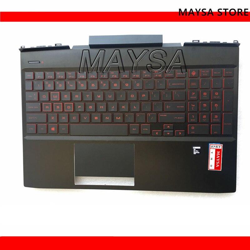 Original Laptop Palmrest Ober Fall UNS Rot Hintergrundbeleuchtung Tastatur Touc hp ad Für HP Omen 15-DC Serie L24369-001