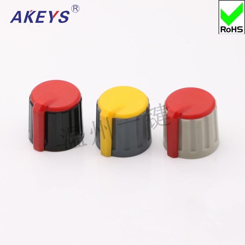 10 Uds KNJ21-19 Botón del codificador del potenciómetro interruptor giratorio ajuste de volumen tapa de la perilla de la torsión rotativa de baquelita