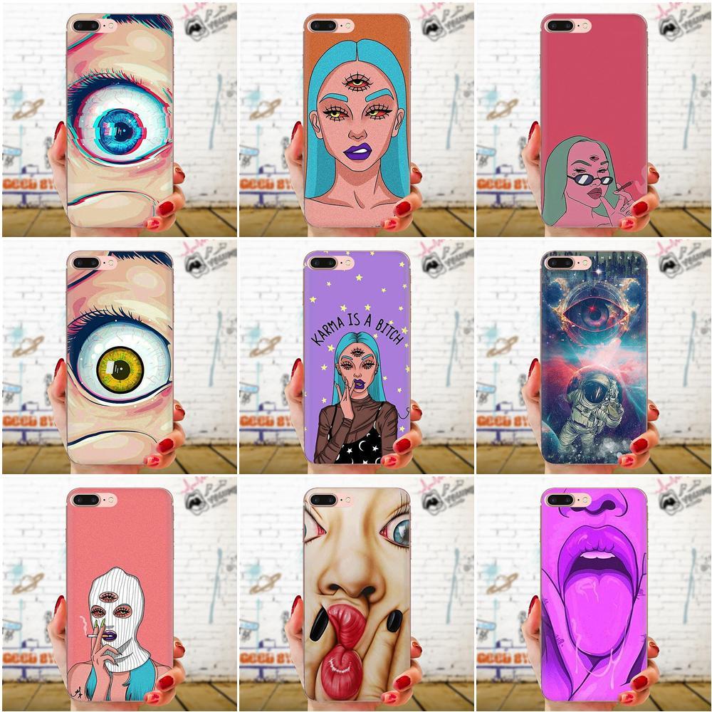 For Huawei P7 P8 P9 P10 P20 P30 Lite Mini Plus Pro Y9 Prime P Smart Z 2018 2019 TPU Screen Protector Three Eyed Girl