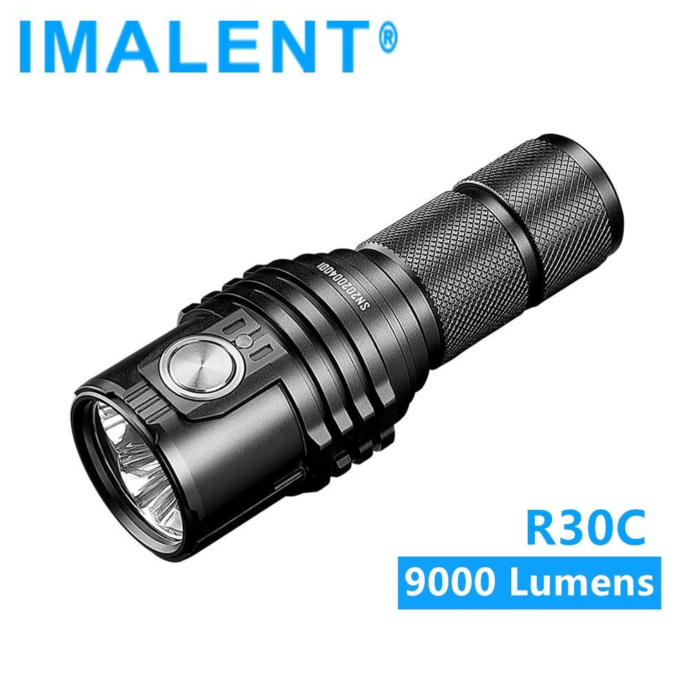 imalent r30c power led lanterna 9000 lumens tipo c usb recarregavel lanterna por
