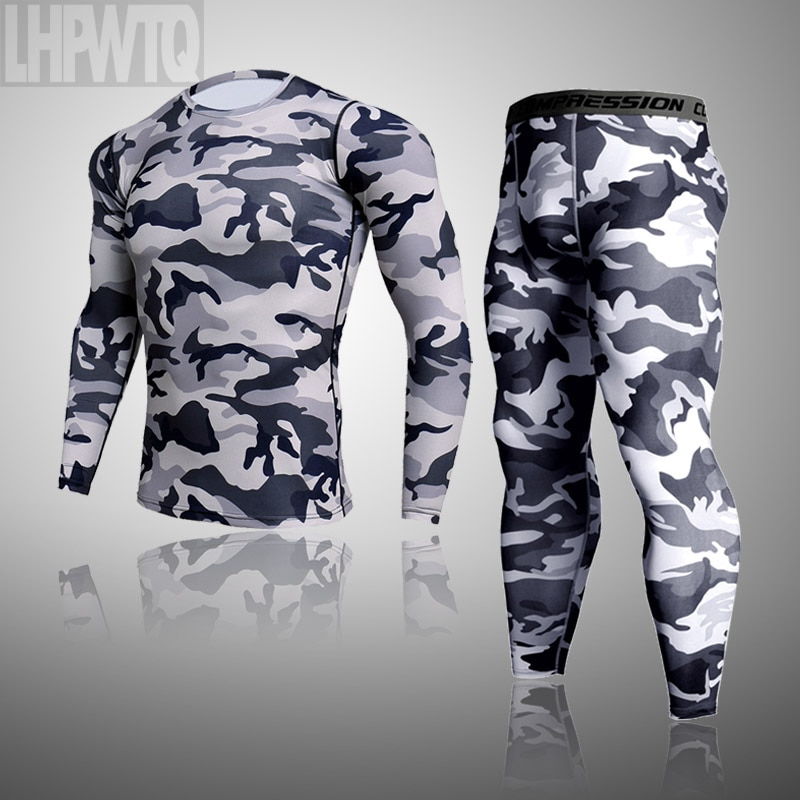 Men's Thermal Underwear For Men Male Thermo Camouflage Clothes Long Johns Set Tights Winter Compress