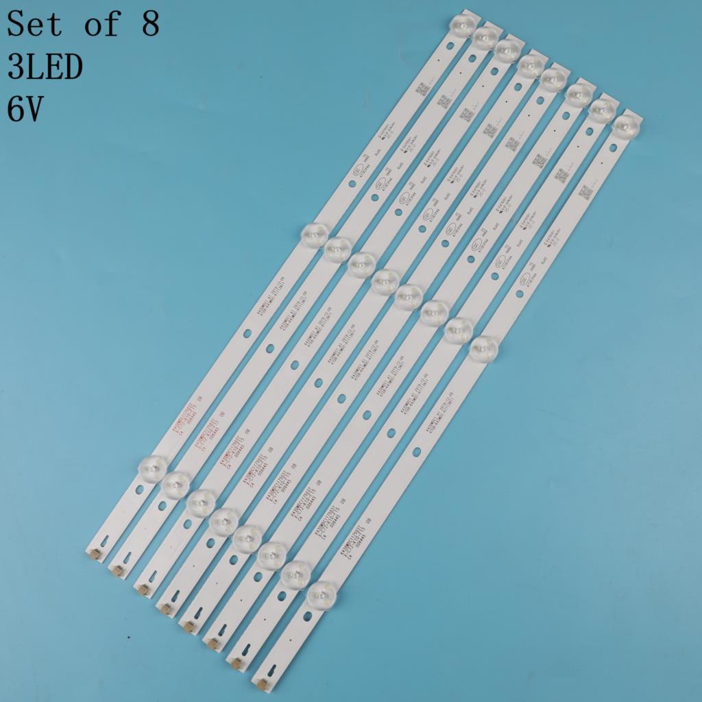 Kit de cinto de luz de fundo de TV, 8 peças, aoc le43m3570 / 60 le43m3579, barra de luz LED, régua embutida, k430wdc1 a1 недорого