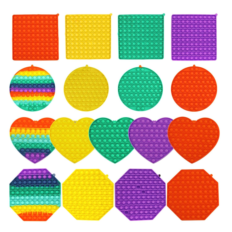 Big Size Push Pop Bubble Fidget Toys Autism Needs Squishy Stress Reliever Toys Adult Kid Funny Anti-stress Pop It Fidget Reliver enlarge