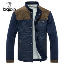 Casual Jacket Men Spring Autumn Thin Vintage Slim Fit Mens Jackets Stand Collar Patchwork Corduroy M
