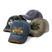 mens letter m denim baseball cap women embroidery vintage cotton snapback bone hip hop caps summer outdoor fashion male dad hat