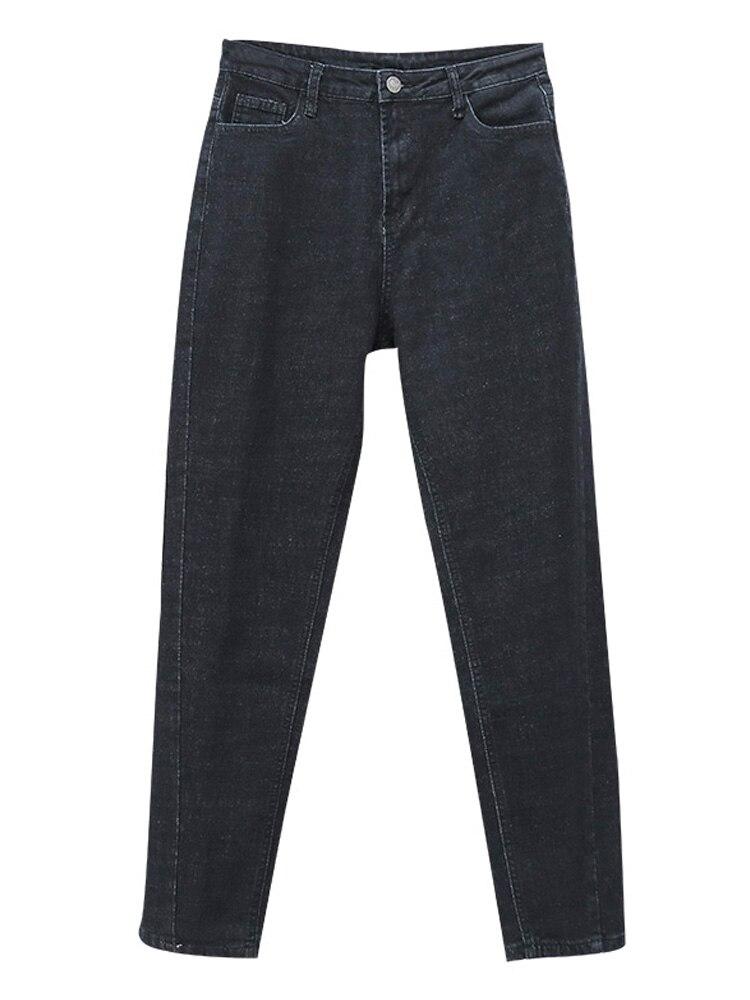 Jeans Woman High Waist Plus Size Zipper Skinny Full Length Denim Pencil Pants 5xl 6xl 7xl
