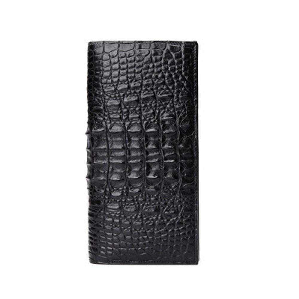 menggeka new crocodile leather wallet male long More screens wallet  fashion  Two fold  Card package  black head style wallet