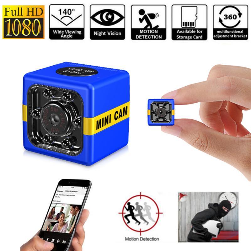 1080p hd mini câmera de monitoramento de segurança câmera longa vida útil da bateria de detecção de movimento visão noturna infravermelha mini câmera