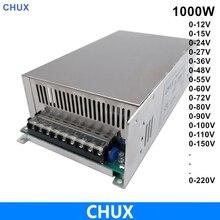 0-12V 24V 27V 36V 48V 55V 60V 72V 80V 90V 100V 110V 1000W Voltage Adjustable Switching Power Supply 220V Ac To Dc Power supply