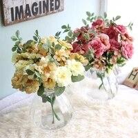 Fleurs artificielles  peinture a lhuile de haute qualite  Bouquets de roses de the  decoration de mariage a domicile  ornements