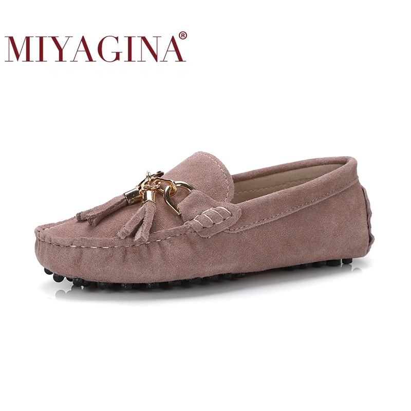 Miyagina 2020 nova chegada sapatos casuais das mulheres de couro genuíno mocassins moda deslizamento em sapatos femininos apartamentos