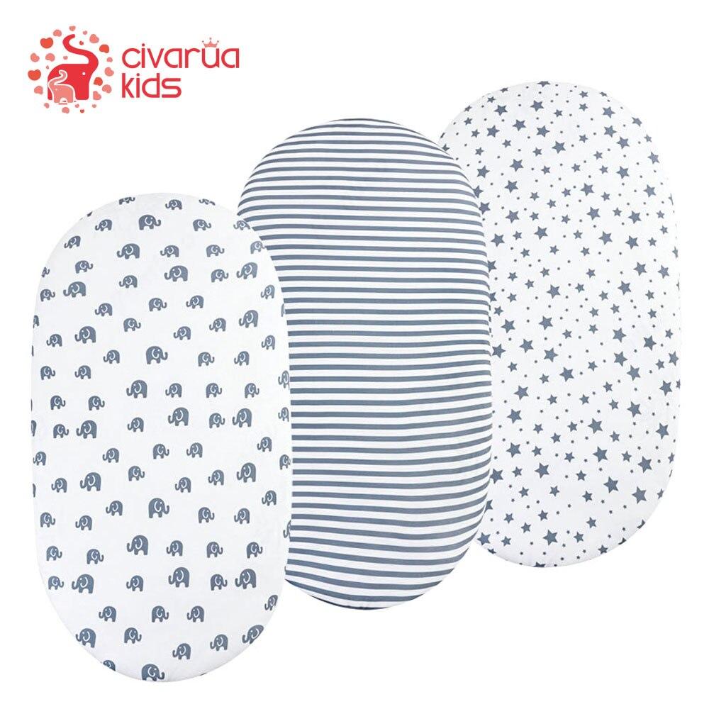 Conjunto de folha de berço-1 pacote ultra macio elástico craddle folhas, apto para capa de almofada de colchão de berço, unissex meninos & meninas