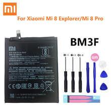 100% Оригинальная батарея Xiao Mi BM3F 3000 мАч для Xiaomi 8 Mi 8 Explorer / Mi8 Pro, сменные батареи для телефона + Инструменты