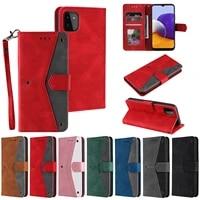 case cover for samsung galaxy a82 a22 a32 a52 a72 a12 a42 5g a51 a71 4g a50 a21s a30 a20 geometric leather flip wallet fundas