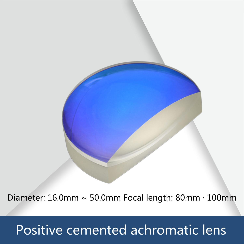 Customized Positive Achromatic Lens Diameter 16/20/25 / 25.4 / 30/40/50 / 50.8 Focal Length 80 / 100mm