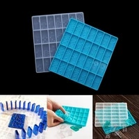 1pcs crystal silicone domino mold epoxy resin game mould craft cabochons board charms mold for diy resin jewelry making tools