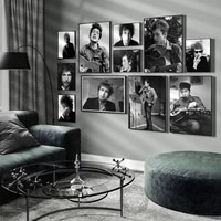 bob dylan smoking poster music pop singer star posters and print gift oil painting wall art canvas picture living room decor