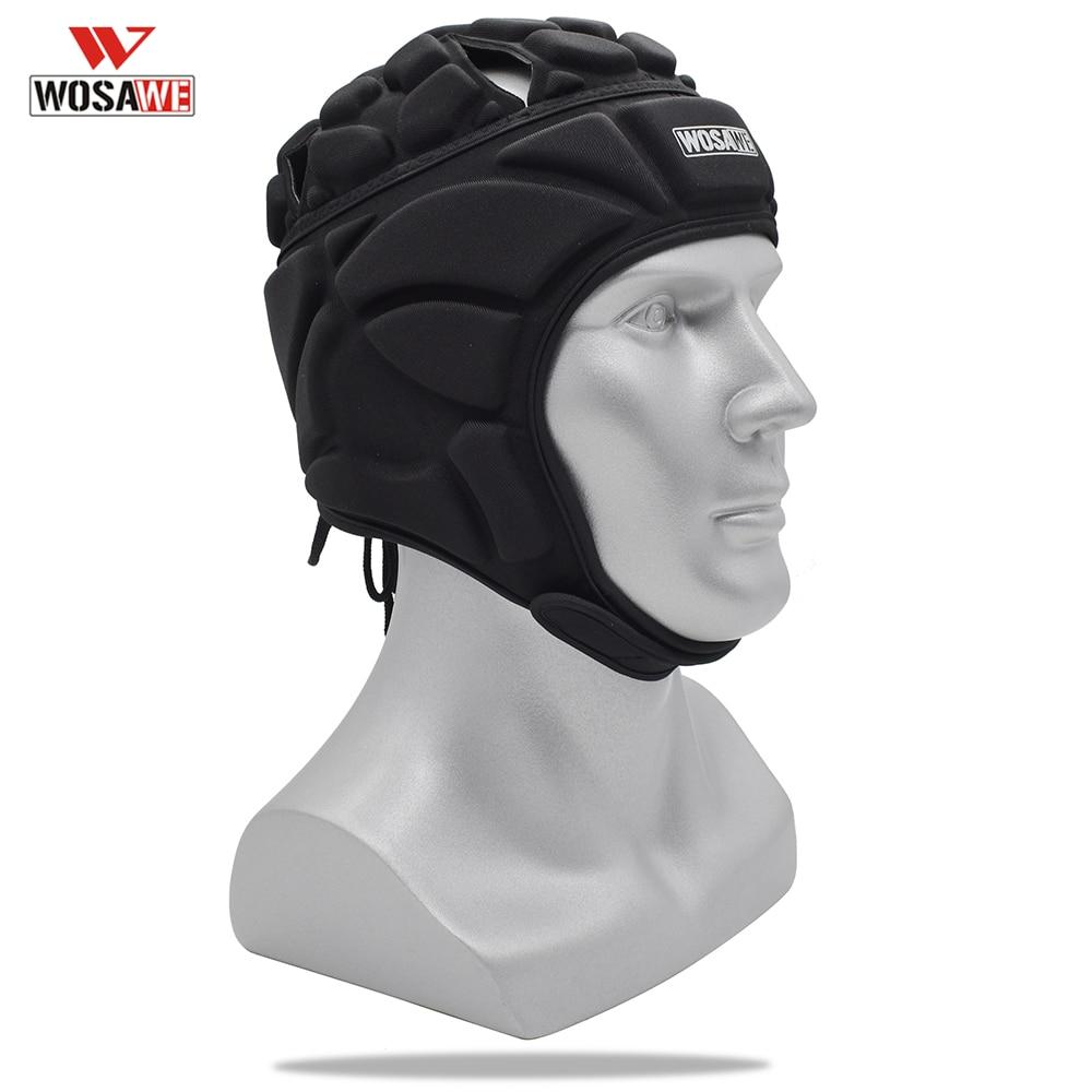 Casco de portero de fútbol bongrace gorra de Rugby ajustable cabeza de portero sombrero Protector de cabeza ciclismo Skateboard