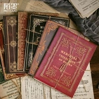 vintage decorative paper 30 pcs old book pages diy scrapbooking material papers newspaper planner diary album retro letter