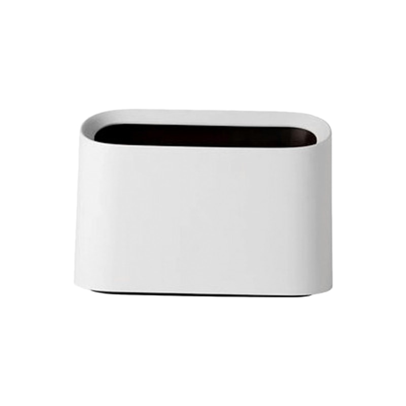 Papelera para escritorio de estilo nórdico moderna y ovalada resistente a roturas, papelera pequeña de plástico, papelera para escritorio, papelera pequeña