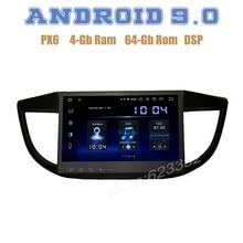 "10.2 ""Ips PX6 Android 9.0 Auto Gps Radio Dsp Speler Voor Honda Crv CR-V 2012 2013 2014 2015 Met 4 + 64 Gb Wifi Usb Auto Stereo"