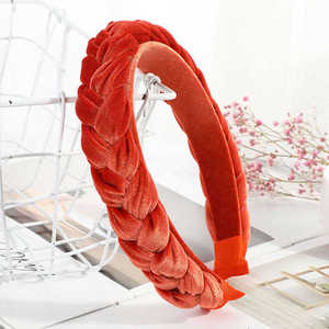 Fashion Women's Headband Twist Hair Knot Hoop Velvet Braided Tie Hairband Accessories