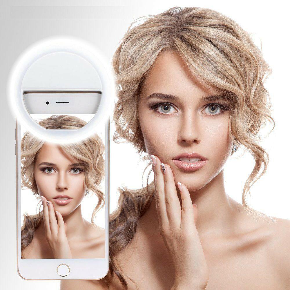 Selfie led anel luz novidade anel clipe para telefone foto lâmpada aro de luz para retroiluminação celular para iphone xiaomi android dispositivo