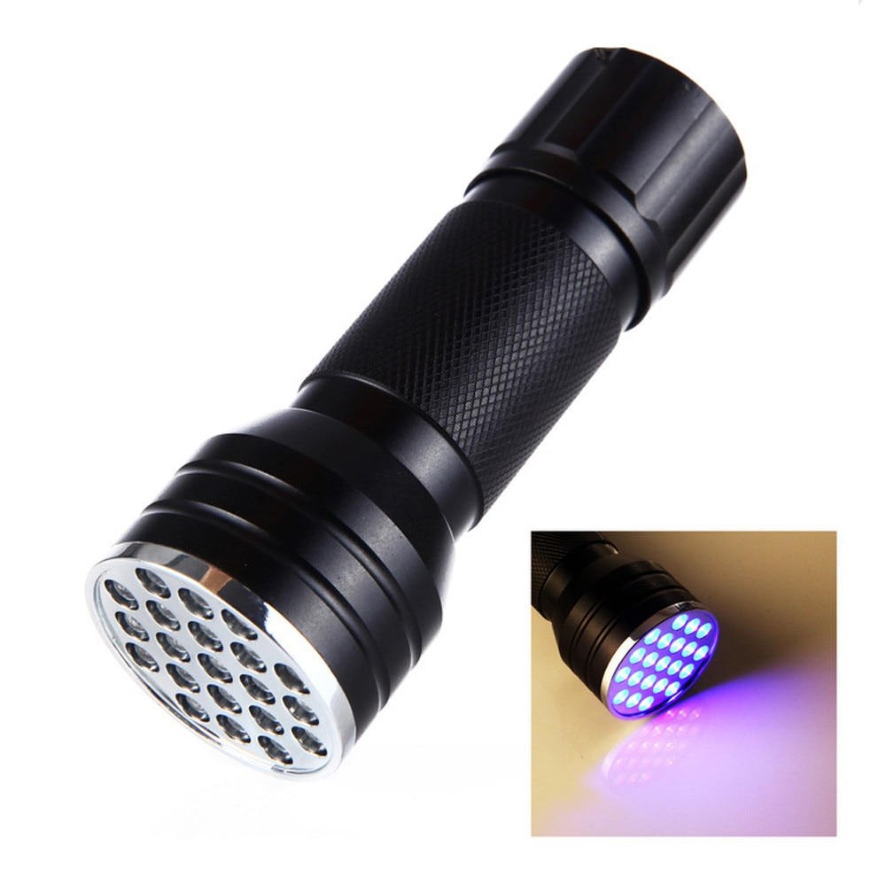 Linterna LED USB Goodland recargable 2019 recién 21 LED 395 nM UV luz negra ultravioleta para la luz de inspección
