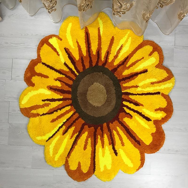 Alfombra de estilo chino de crisantemo amarillo, sala de estar suave para alfombra de suelo, alfombra de suelo suave, alfombra decorativa para sofá, mesa de café