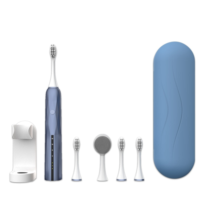 Sonic Electric Toothbrush Adults Oral Care Ultrasonic Automatic Teethbrush Teeth Whitening Massage Gum 4Pcs Tooth Brush Heads sonic toothbrush electric adults yunchi y1 usb rechargeable teeth cleaning gum care 3 heads oral hygiene seago pink tooth brush
