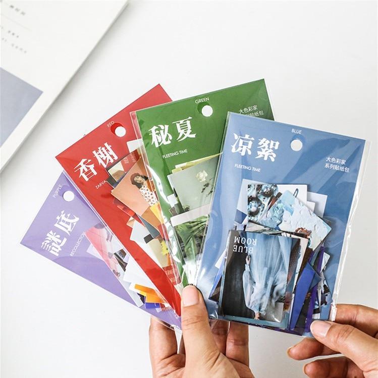 40 Uds verano fresco pegatina Kawaii de papel de flores de fruta de café papelería pegatinas adhesivas decorativas etiqueta para Scrapbooking