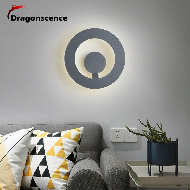 Lámpara LED redonda Dragonscence para interiores, lámpara de pared para decoración de Sala, fuente de luz para pared, accesorio de iluminación para el hogar, luz de escalera para Loft