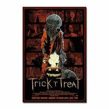 Hot TRICK R TREAT Horror Sam Halloween Movie Silk Fabric Wall Poster Art Decor Sticker Bright