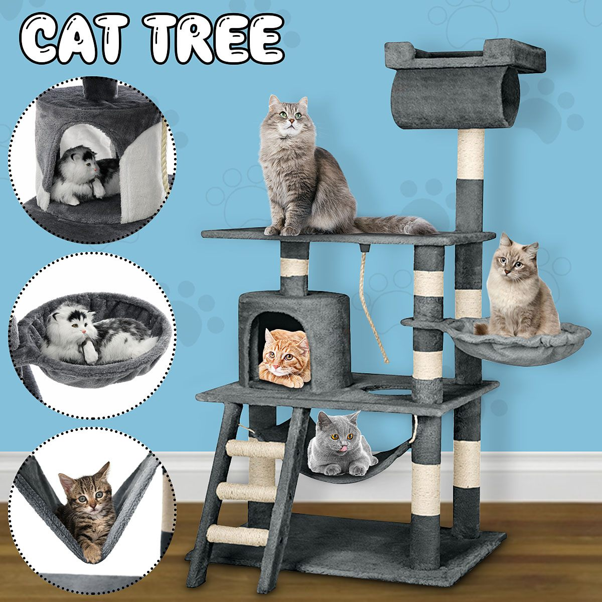 Schnelle Pet Multifunktionale Stuhl Kreative Cube Haus mit Kratzen Abnehmbare Pad Kissen Pet Aktivität Katze Baum