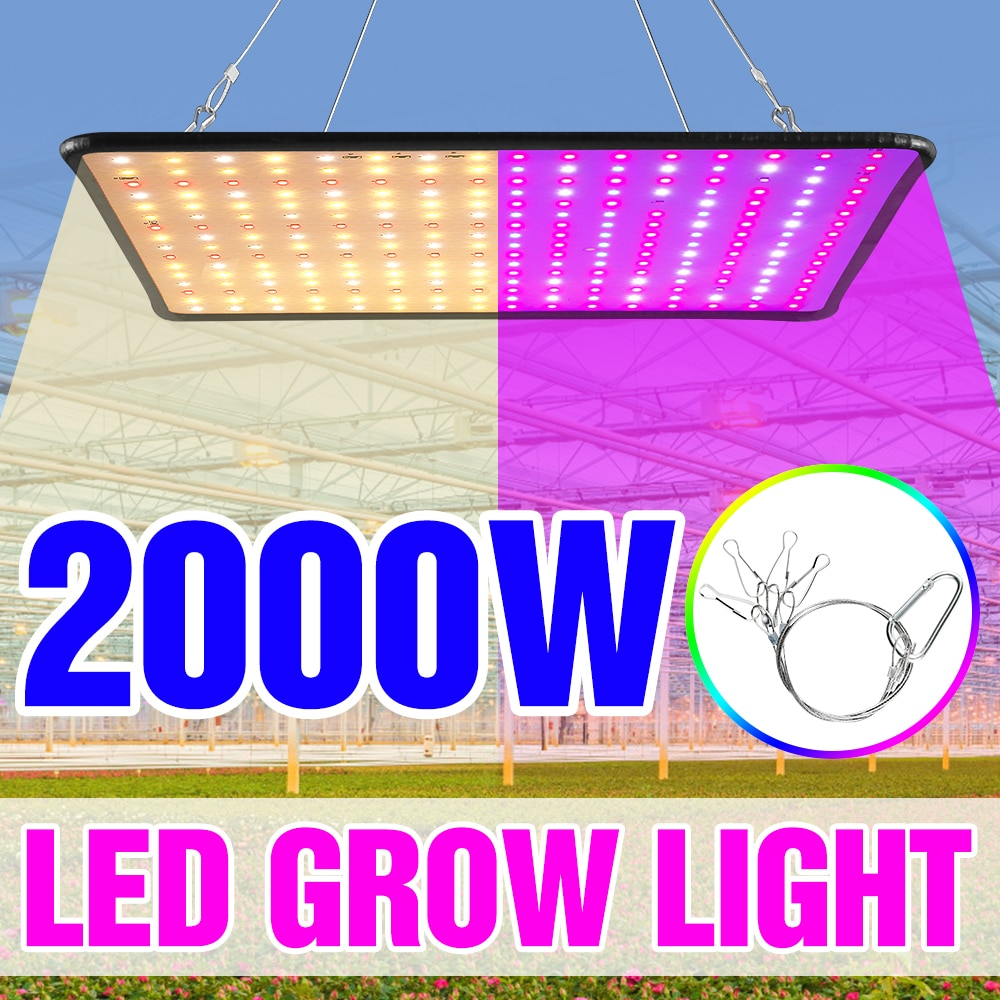 1000W Grow Light Led Full Spectrum Lamp 1500W 2000W Led Plant Light Bulb Greenhouses Indoor Phyto Lamp Grow Tent US EU UK Plug