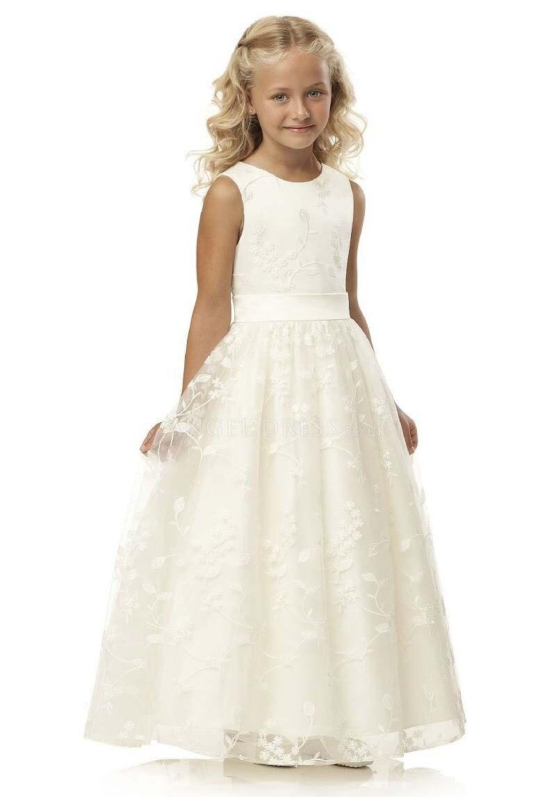 فساتين الأميرة تول الدانتيل A خط زهرة فتاة لفساتين الزفاف الأولى بالتواصل فستان حفلات الزفاف المدرج عرض المسابقة