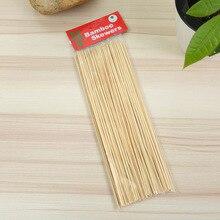 قوي عود من خشب البامبو العصي شواء الفاكهة شيش كباب الخشب الطبيعي 25 سنتيمتر العصي الشواء عصا