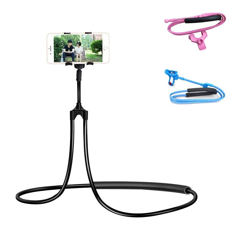 Mobile Phone Holder Hanging Neck Lazy Cellphone Mount Accessories Adjustable 360 Degree Phones Holde