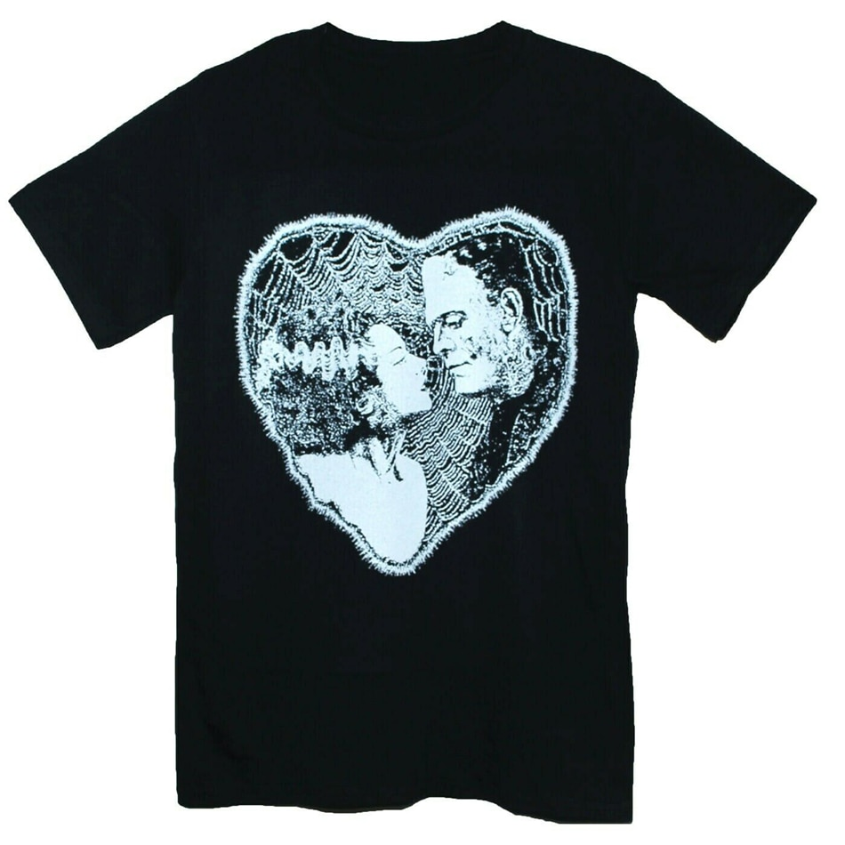 FRANKENSTEIN BRIDE camiseta Shelley Horror Monster Goth negro Unisex gráfico camiseta moda Cool